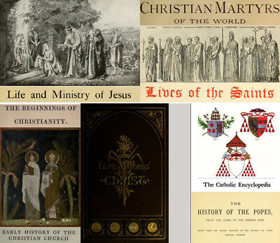 eBooks: 300 of.  Jesus Christianity Church Martyrs Saints Popes Cath Encycl, PDF