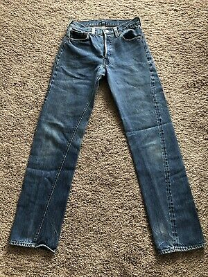 Vtg 1970's LEVI 501 Selvedge Button 524 Stamped Size28x30 Small e Redline