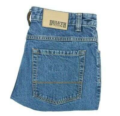 Duluth Trading Co relaxed fit jeans TAG size 32x30 blue denim MEASURED 32x29 a47