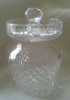 Waterford Signed Lead Crystal 'Alana'  Preserve/Honey Pot