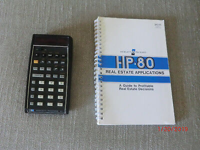 VINTAGE HP-80 Financial Calculator in good condition with Real Estate Apps Guide