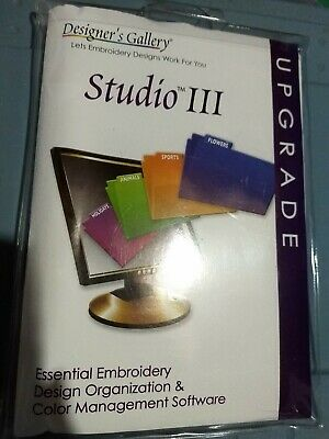 DESIGNERS GALLERY STUDIO 3 EMBROIDERY SOFTWARE upgrade only