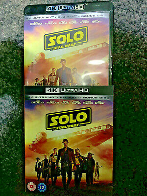 Solo A Star Wars Story Uk 4K Uhd And Blu Ray With Slipcase Mint Condition