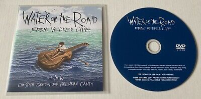 EDDIE VEDDER Water On The Road Advance Promo DVD PEARL JAM