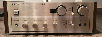 Rare! Beautiful Vintage Sony Ta 2650 Audiophile Stereo Amp Works Read Descriptio