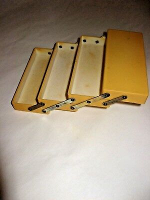 Vtg.Watchmakers Jewelers Deco Folding Triple Cantilever Accordion Tools Box Case