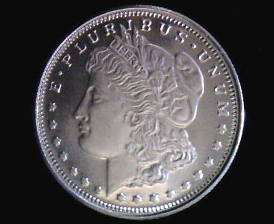 **Morgan Silver Dollar Design Bullion 1/4 Troy Oz. .999 Fine Silver Solid Rounds