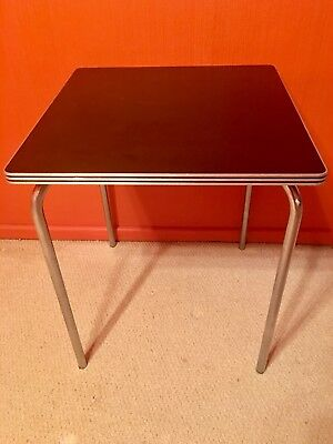 Rare / Art Deco Chrome & Bakelite Table by Gilbert Rohde for Troy, 1930's