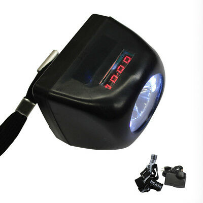 4500LM Digital Light Miner Lamp 1W LED Display Helmet Cap Lamp Cordless WDMATE