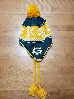 965e97823 47 NFL Green Bay Packers Men s Hat Knit Beanie With Tassels Cap One Size