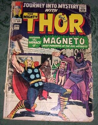 Journey Into Mystery 109 GD- Marvel Silver Age Thor Magneto Stan Lee Jack Kirby