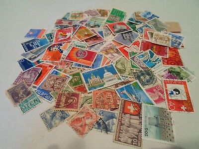 Collection lot 160+ different stamps of Switzerland