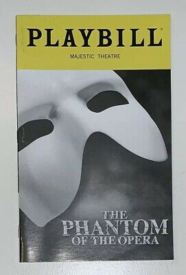 The Phantom of the Opera Playbill - The Majestic Theatre - October 2018