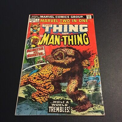 Marvel Two-In-One #1 1974 Jim Starlin art Thing Fantastic Four Man-Thing