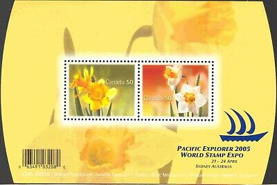 2005 Canada #2091 Mint Never Hinged Souvenir Sheet of Daffodils