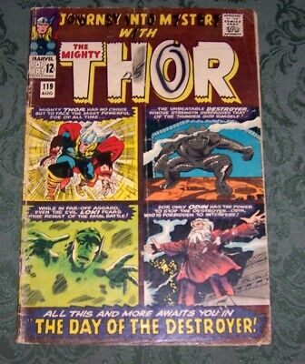 Journey Into Mystery 119 GD Marvel Silver Age Thor Destoyer Stan Lee Jack Kirby