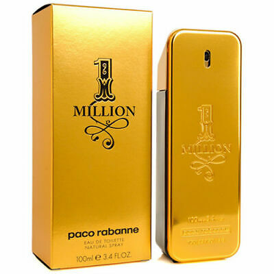 1 One Million by Paco Rabanne 3.4 oz Eau de Toilette Men's new sealed in box