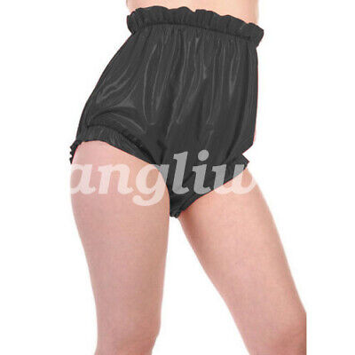 Latex Rubber Gummi Women hohe Taille Shorts 0.4mm S-XXL
