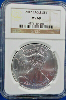 2012 NGC MS 69 American Silver Eagle