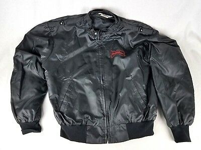 Vtg 1980s Great Lakes Sportswear Black Jacket Budweiser Size M