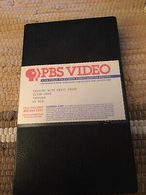 Talking With David Frost Elton John PBS Video VHS