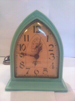 Vintage Green New Haven Westinghouse Alarm Clock - Electric