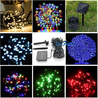 50~500 LEDS Outdoor Solar Powered String Light Outdoor Garden Party Fairy Lamps