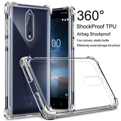 For Nokia1 2 3 5 6 7 8 9 7.1 Plus Shockproof Clear Slim Silicone Soft Case Cover