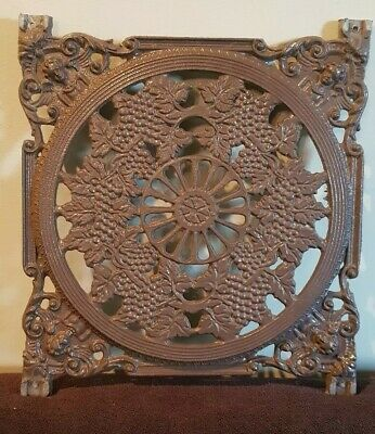 7 ornate Wrought Iron or Metal Square Plates bit like fret work