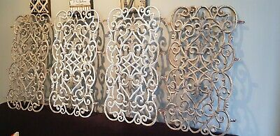 4 Wrought Iron Fretwork Panels for verandah wrought iron lace work