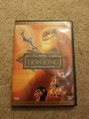 The Lion King As-Is (DVD, 2003, 2-Disc Set, Platinum Edition Features New Song)