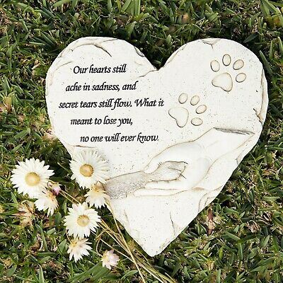 Pet Grave Memorial Stone, Dog or Cat Loss and Remembrance, Lovely Sympathy Gift