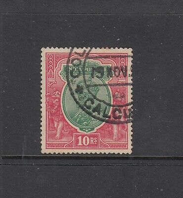 INDIA: 1926-33 KGV 10r Greeen & Scarlet SG 217 £9, very fine used.