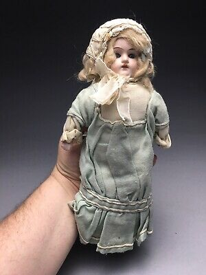 Antique Germany 17/0 Sleepy Eye Blond Bisque Baby Doll Heubach