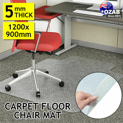 New Carpet Floor Office Computer Work Chair Mat Vinyl Protector 1200 x SYD
