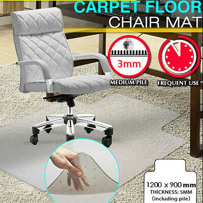 New Carpet Floor Office Computer Work Chair Mat Vinyl Protector 1200 x 900mm AUS