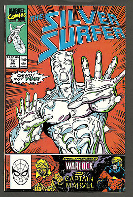 SILVER SURFER #36 (1987 Series) Infinity Gauntlet prelude THANOS Ron Lim
