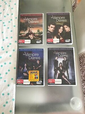 The Vampire Diaries- The Complete 1st, 2nd, 3rd 4th Seasons.