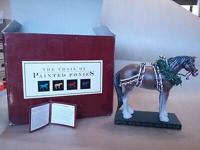 """""""The Trail Of Painted Ponies"""" Christmas Clydesdale Draft Horse #12203"""