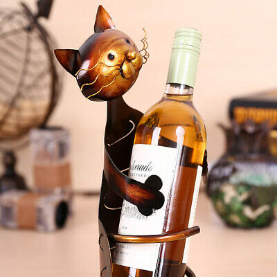 1PC Elegant Metal Durable Practical Cat Shaped Wine Rack for Home Bar Restaurant