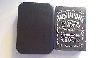 Jack Daniels Collectors Tin with Playing Cards Brand New