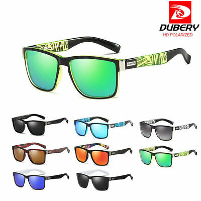 11ad19d589 DUBERY Polarized Sunglasses Square Cycling Sport Driving Fishing Men Women  UV400