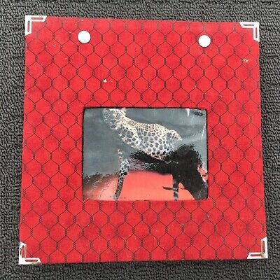 """WILD LEOPARD """"Red"""" Small Fabric Covered Scrapbooking Album Photo Display Book"""