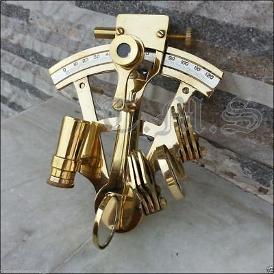 New Solid Brass Sextant Nautical Working Instrument Astrolabe Ship Maritime Gift