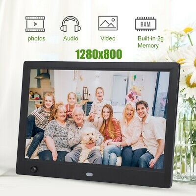 "10 ""HD Digital Bilderrahmen MP3 MP4 Media Video Spieler mit Bewegungssensor"