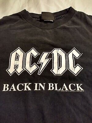 Vintage Style AC/DC ACDC T Shirt - size S Small - Back in Black - made 2003