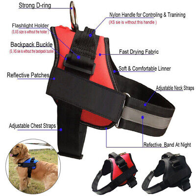 Adjustable Dog Harness Reflective Pet Puppy Strong Harnesses for Pet  S-2XL UK