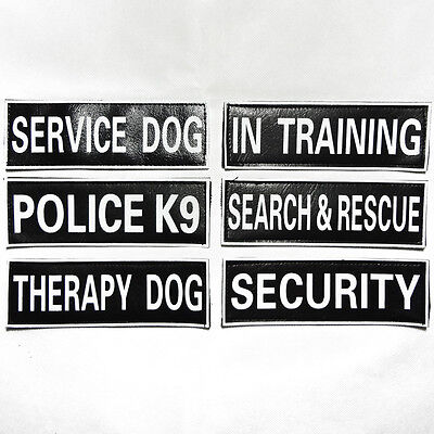 Extra patches for Dog Harness Vest SERVICE DOG THERAPY POLICE TRAINING SECURITY