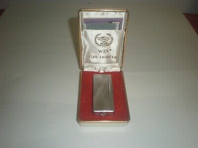 Vintage WIN Deluxe Gas Lighter  in Original Box - It Sparks