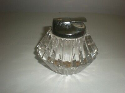 Vintage Ronson Crystal Table Lighter Made in England